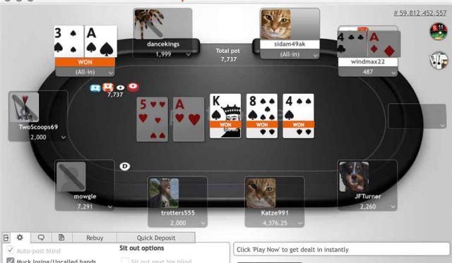 Poker en ligne Play Money